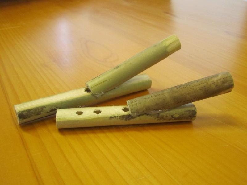 8月12日(金)に作った竹笛
