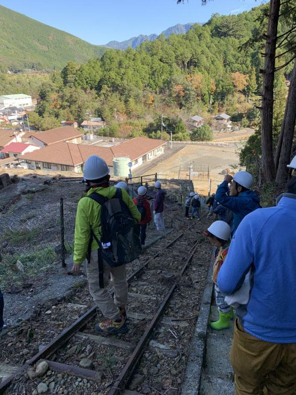 選鉱場から紀和の町が見渡せます