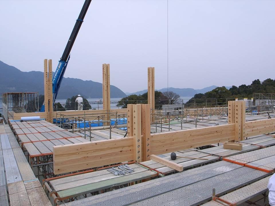 熊野古道センター建設当時の様子